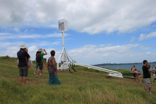 Smartphones and QR Codes Feature at Auckland's Sculpture On The Gulf