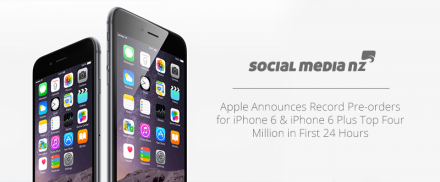 Apple Announces Record Pre-orders for iPhone 6 & iPhone 6 Plus Top Four Million in First 24 Hours