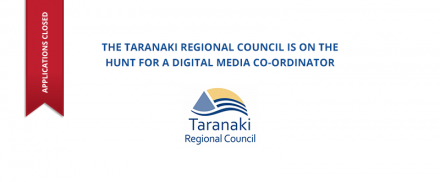Taranaki Regional Council – Digital Media Co-ordinator