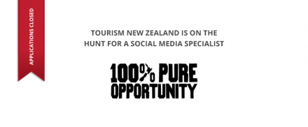 Tourism New Zealand – Social Media Specialist