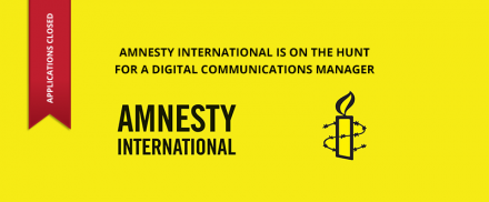 Amnesty International – Digital Communications Manager