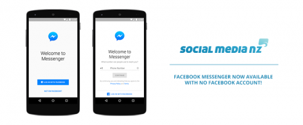 Facebook Messenger now available with no Facebook account!