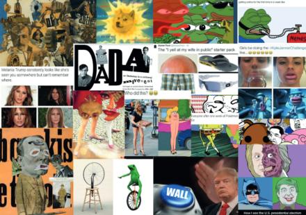 Meme-ingful  art. Meme Culture- an art movement?