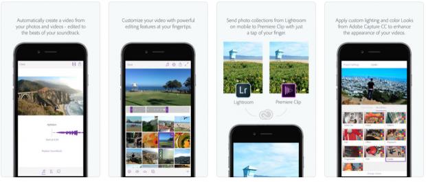 Adobe Premiere Clips app for social media