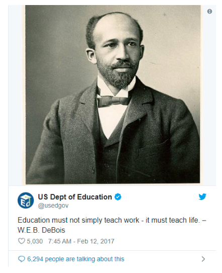 U.S. Department of Education tweet