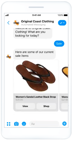 messenger ad example