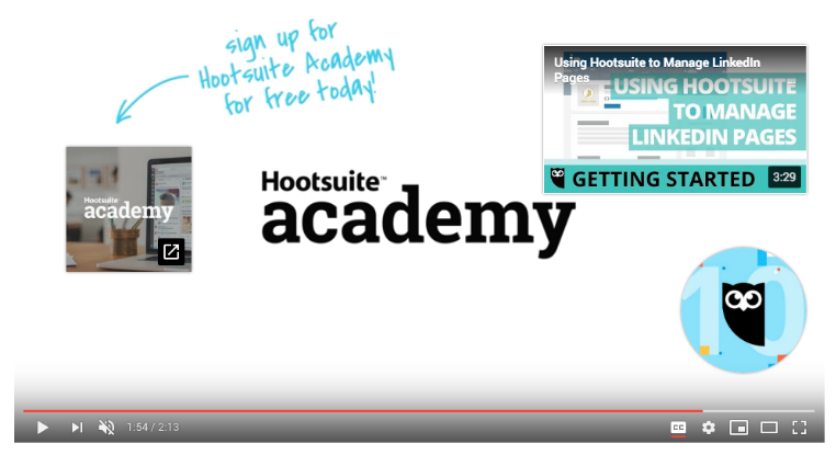 CTA on a Hootsuite Product Update video