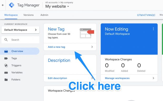 Tag Manager window with Add a new tag option
