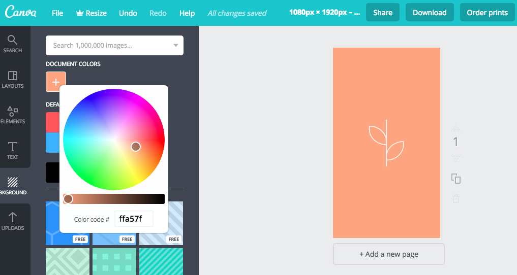 Editing Instagram Highlight icons with Canva