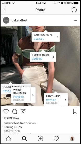 Oak + Fort on Instagram Shopping