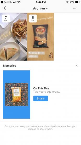 Instagram Stories analytics archive