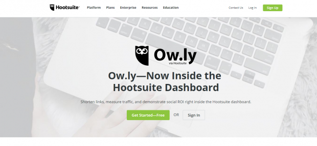 Owly is a built-in URL shortnener in the Hootsuite dashboard
