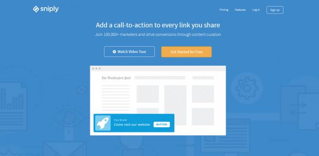 Sniply URL shortener