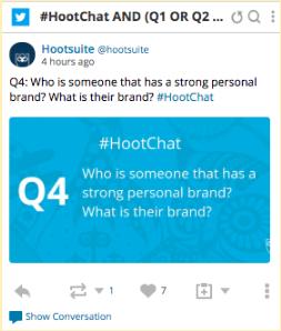 #Hootchat in Streams
