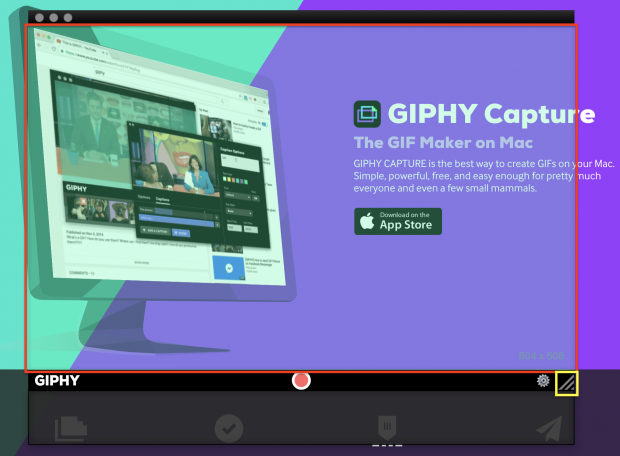 how to make a screen-recording gif