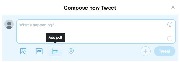 """Add Poll"" button on Twitter"