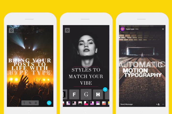 Instagram Story app Hype Type