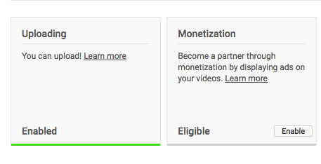 Signing up for the YouTube Partner Program