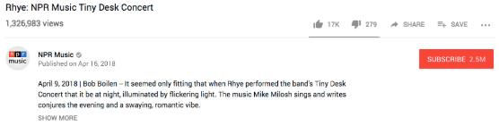 youtube video description for NPR
