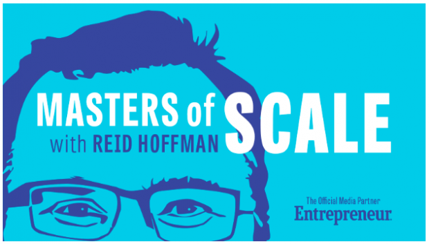 Masters of Scale podcast with Reid Hoffman banner