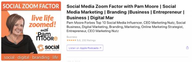 Social Media Zoom Factor podcast app