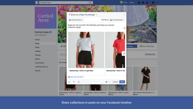 Shopify Facebook page app