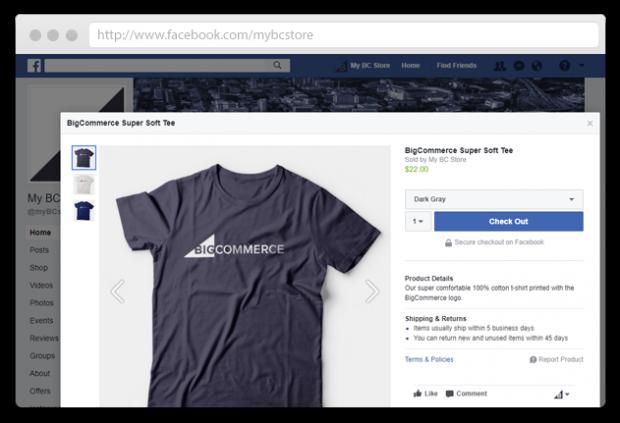 Big Commerce Facebook page app