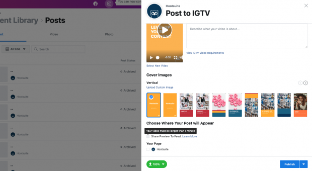 how to schedule IGTV videos step 8