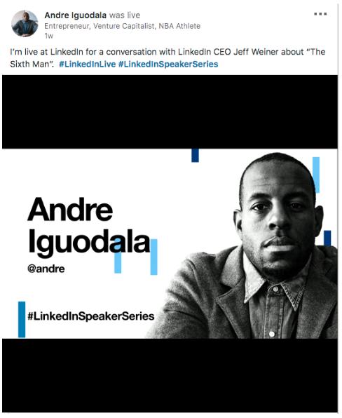 Andre Iguodala LinkedIn Live post