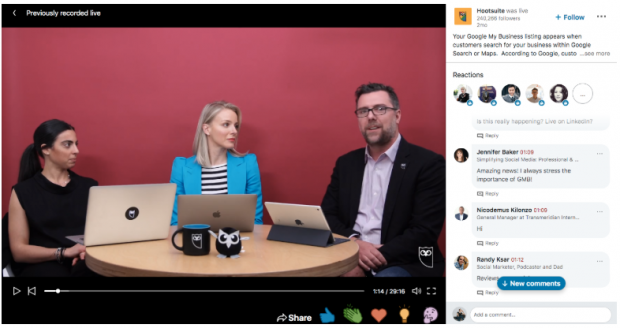 Hootsuite LinkedIn Live with Google