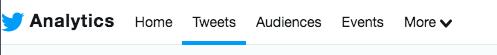 Twitter analytics menu
