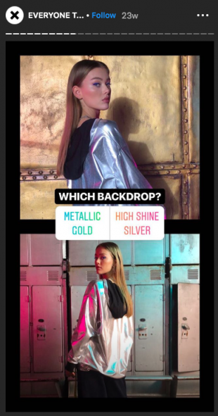 Instagram Stories poll