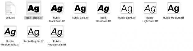 installing Google font on your desktop