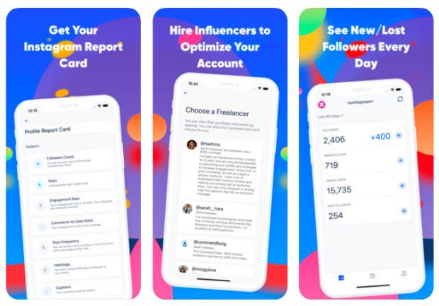 Command Instagram analytics app