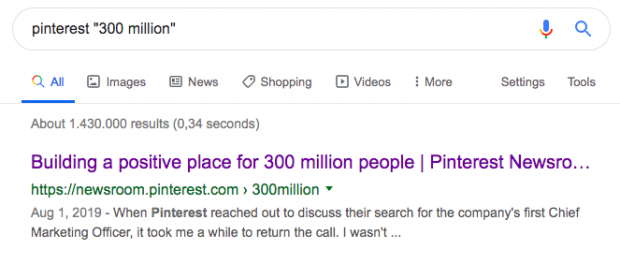 """Google search for """"Pinterest 300"""""""