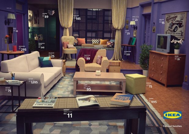 Friends living room recreated with Ikea furniture