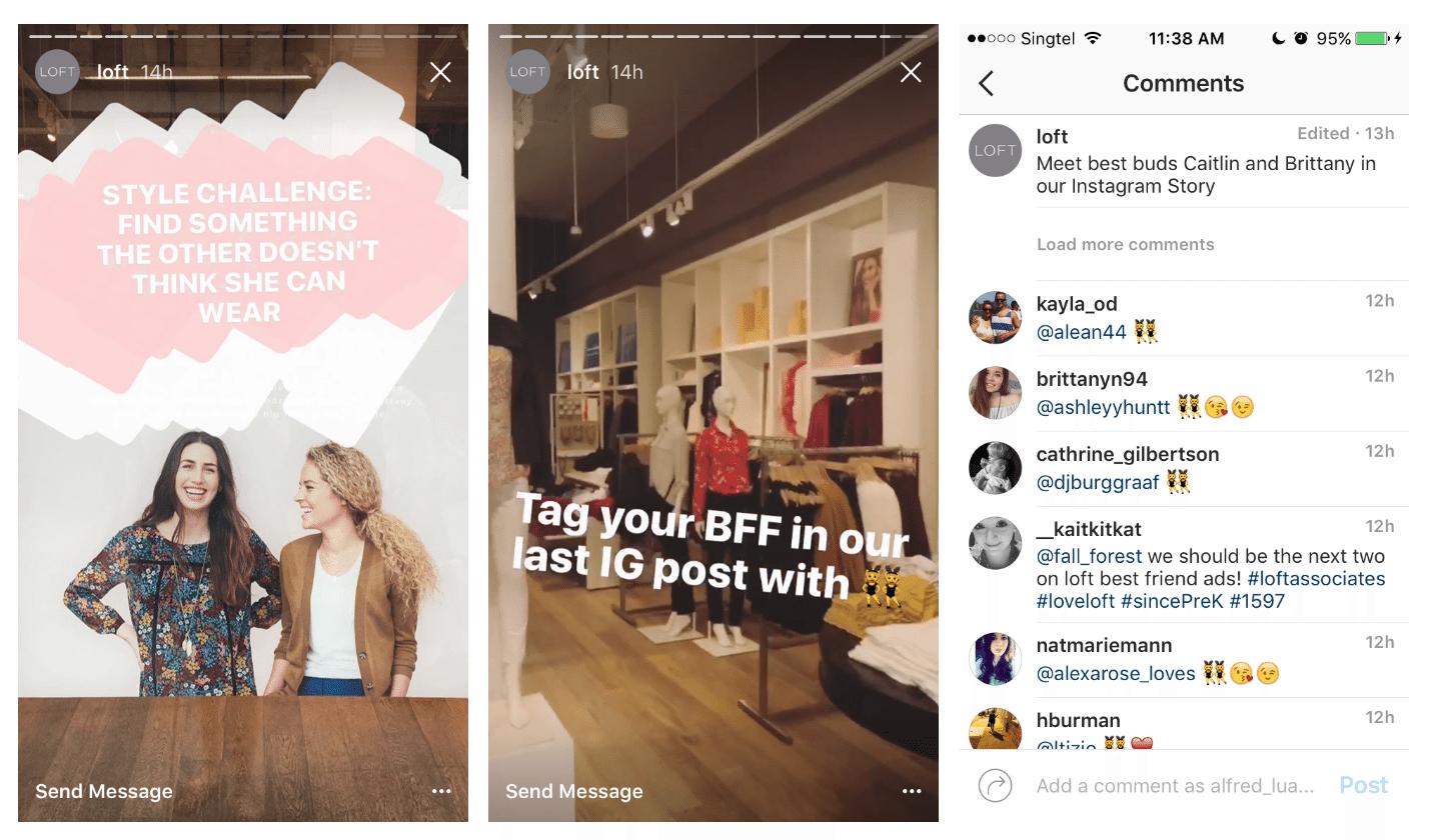 LOFT's Instagram Stories