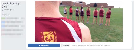 Loyola Running Club Facebook group header image