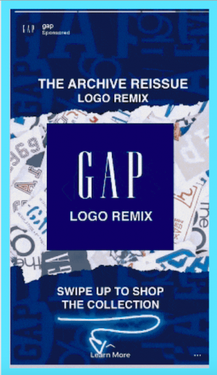 Instagram Stories carousel ad by Gap