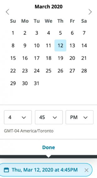 Screenshot of Hootsuite's Instagram scheduling calendar