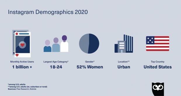 top 5 Instagram demographics in 2020