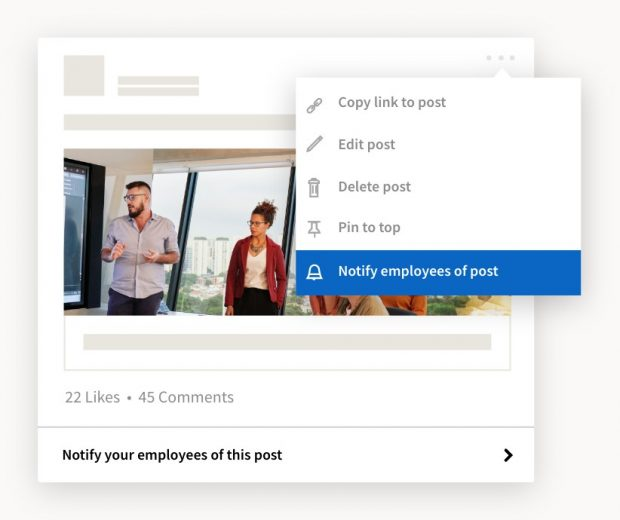 Notify employees of this post prompt