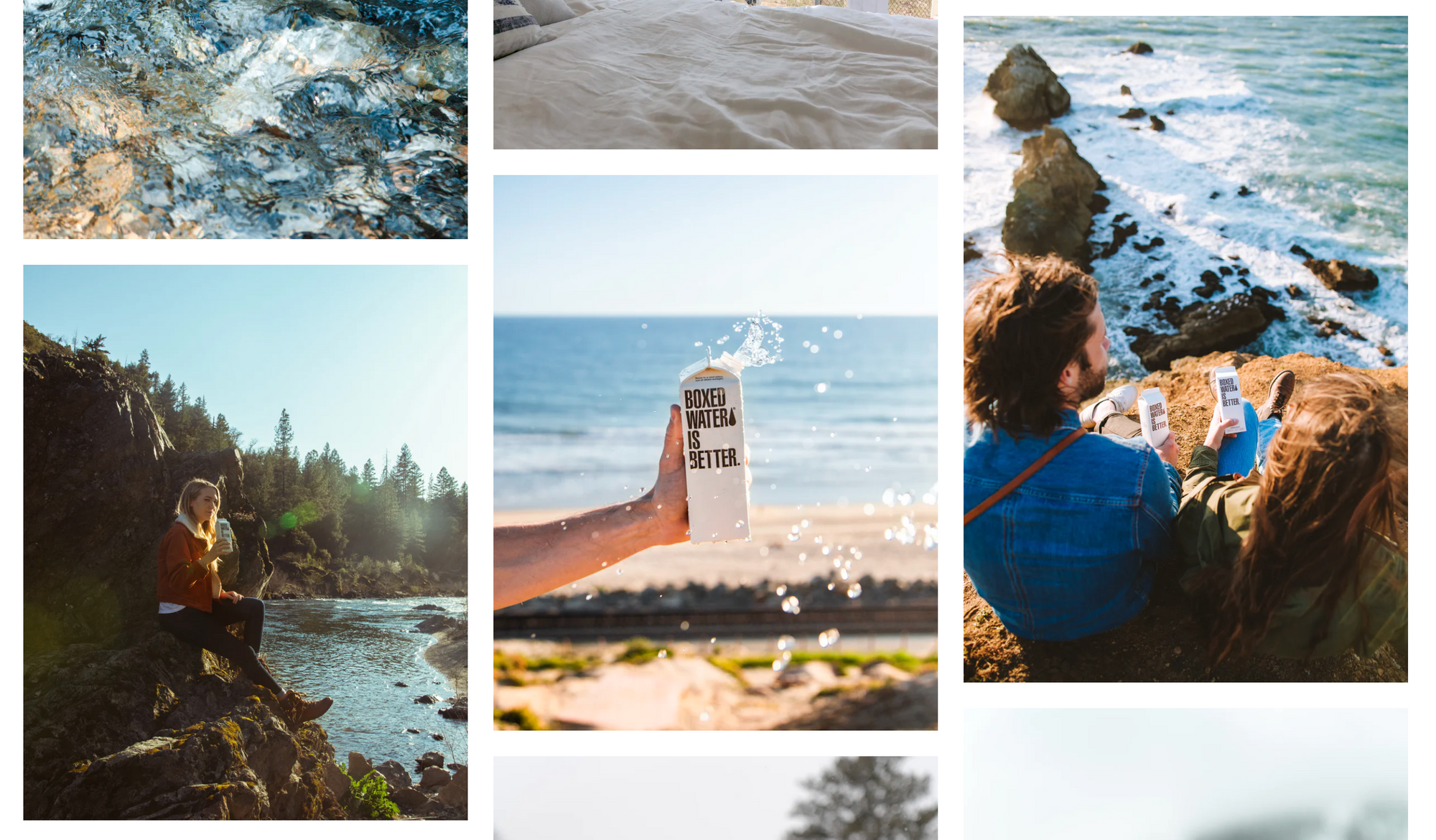 unsplash branded photos boxed water